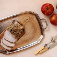 Znakomity schab z jabłkami i miętą