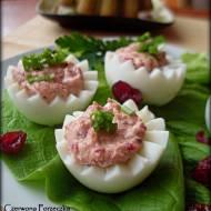 Jajka faszerowane żurawiną i serem