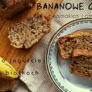 Bananowe ciasto z kajmakiem i otrębami