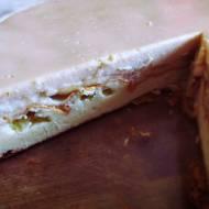 Ciasto sernikowo-bananowe toffi (ok. 140 kcal/100g)