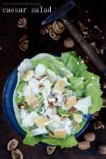 Sałatka Cezar z orzechami włoskimi/ Cezar salad with walnuts