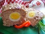 Pieczeń rzymska z jajkiem. Smaczna na zimno i na ciepło.