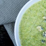 Zupa krem z brokuła z serem blue stilton.