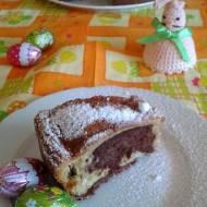 Zdrowa babka jogurtowa, waniliowo-czekoladowa z jabłkiem