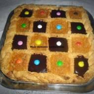 Mazurek czekoladowo-jabłkowy