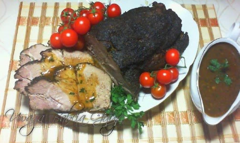 Karkówka Pieczona w Rękawie i Sos do Mięsa