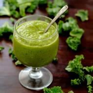 Zielony mus owocowy z jarmużem