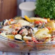 Ziemniaki zapiekane z grzybami i warzywami / Baked potatoes with mushrooms and vegetables