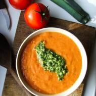 TOMATO SOUP z TAMRIEL – SKYRIM – zupa z pieczonych pomidorów z pietruszkowym pesto