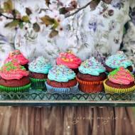 Kolorowe muffiny