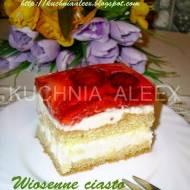 Wiosenne ciasto urodzinowe wg Aleex