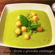 Zupa-krem z groszku zielonego