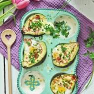 Avocado zapiekane z jajkami