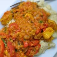 Curry z soczewicą i papryką