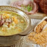 Błyskawiczna zupa z soczewicy na wędzonce