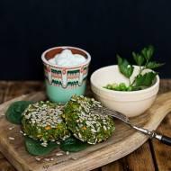 Wegańskie kotlety z zielonego groszku