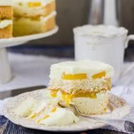 Ciasto brzoskwiniowo - śmietanowe