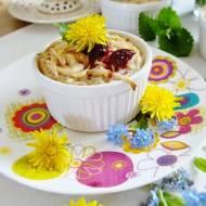 Deser-ryż na słodko z kwiatami mniszka