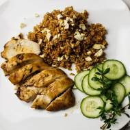 Kurczak w miodzie z aromaycznym ryżem basmati