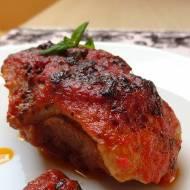 Pierś kaczki pieczona w pomidorach