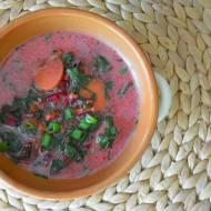 Zupa z botwinki z koperkiem i ziemniakami
