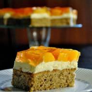 Ciasto brzoskwiniowo-orzechowe