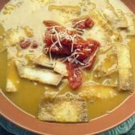 Gdzie ta wiosna? i Zupa (SOPA) z chipsami z tortilli i pieczonymi pomidorami