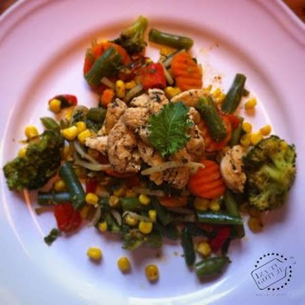 Przepis Na Warzywa Na Patelnie I Piers Z Kurczaka Czyli Moj Przepis