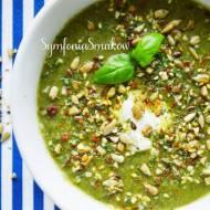 122. Strączkowa przecieranka czyli: zupa krem z zielonej soczewicy i szpinaku.