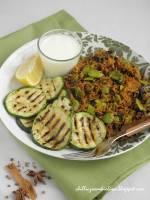 Bób inaczej czyli korzenny pilaw z bobem i grillowaną cukinią + co to jest pilaw