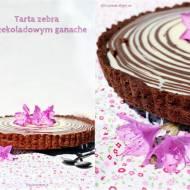 Tarta zebra z czekoladowym ganache