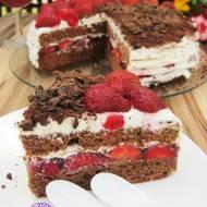 Tort z truskawkami - urodzinowy