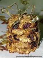 Owsiane ciasteczka z jagodami goji i orzechami macadamia