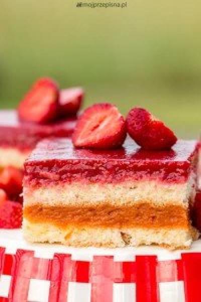 Mocno owocowe ciasto biszkoptowe