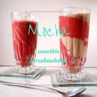 Mocha smoothie z truskawkami, czyli genialny koktajl kawowo-truskawkowy
