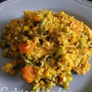 Risotto w curry z kurczkiem i warzywami