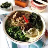 Soba z wołowiną i szpinakiem / Soba mit Rindfleisch und Spinat