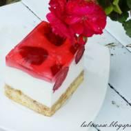 Ciasto piankowe z truskawkami