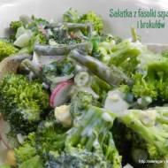 Sałatka z fasolki szparagowej i brokułów