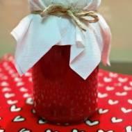 Dżem z czerwonej porzeczki, lekko słodzony cukrem muscovado