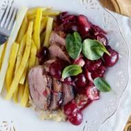 Pierś kaczki z czereśniami / Duck breast with sweet cherries