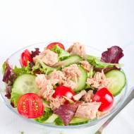 Detox- czyli prosta sałatka z tuńczykiem.