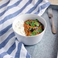 Pieczone bakłażany w sosie curry