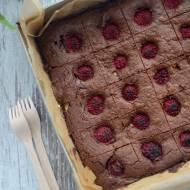Brownie z serem i malinami - sernikobrownie