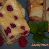 Ciasto z malinami i pianką budyniową