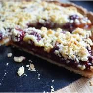 Tarta z wiśniami i dżemem agrestowym