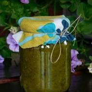 Zielony dżem z cukinii