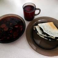 Naleśniki z pesto botwinowym, botwinka i kompot porzeczkowy czyli co można przygotować z darów z działki