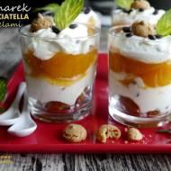 Pucharek stracciatella z karmelizowanymi morelami - słodki bez cukru