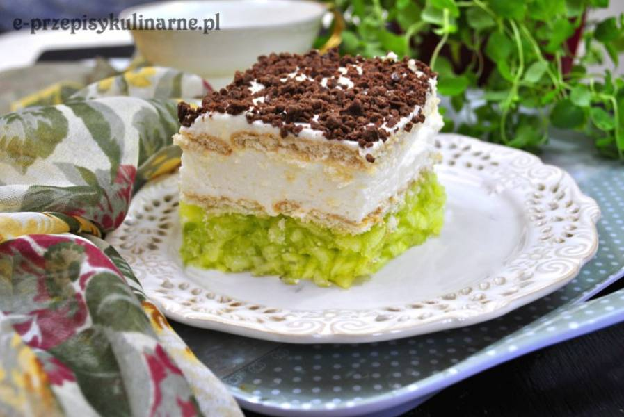 Przepis Na Ciasto Bez Pieczenia Z Jablkami I Bita Smietana E